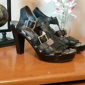 Coach Jaime (Q231) textured leather high heels
